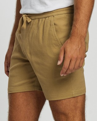 Staple Superior Organic Organic Pull On Shorts - Shorts (Latte)