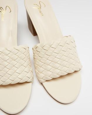 SPURR Hale Heels - Sandals (Cream Smooth)