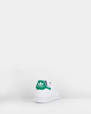 adidas Originals - Stan Smith Grade School Lifestyle Shoes (White/Green)
