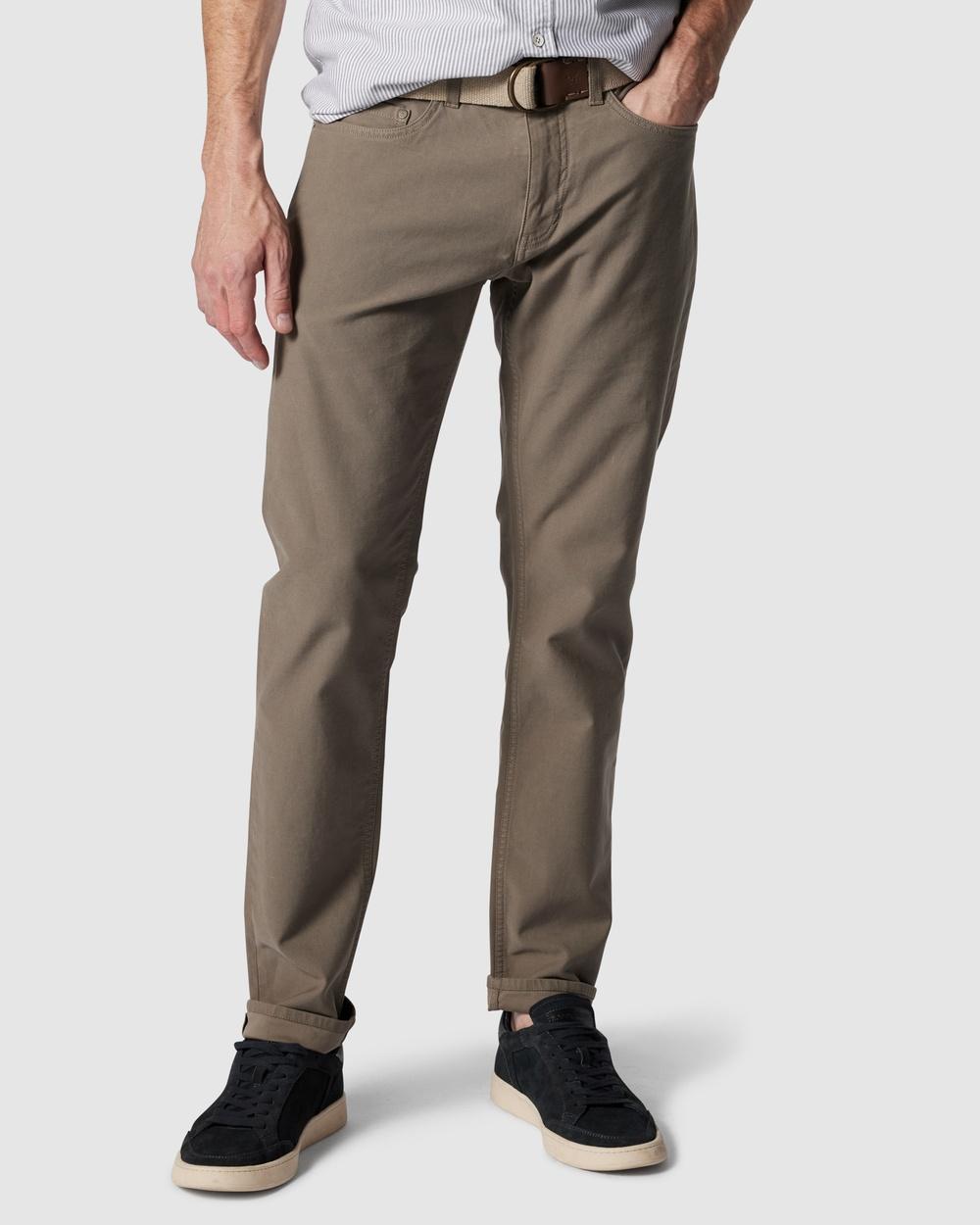 Rodd & Gunn Motion 2 Straight Jeans R Pebble Australia
