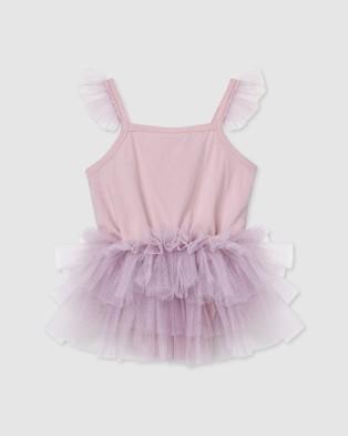 Designer Kidz - Samantha Ballerina Romper Rompers (Purple)