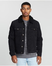Cotton On - Borg Denim Jacket