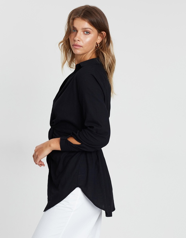 Atmos&Here - Katherine Twist Front Shirt