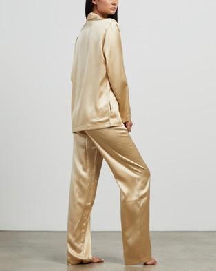 La Perla Silk Long Pyjamas - Two-piece sets (Beige Stone)