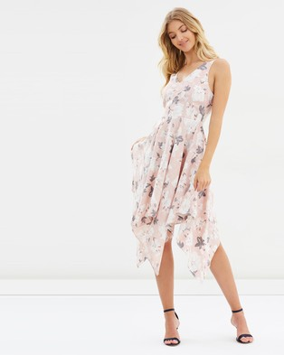 Atmos & Here – Azalia Midi Dress – Printed Dresses Dove Love Print