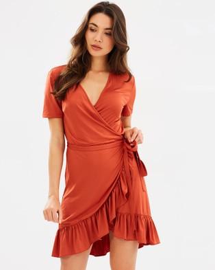 Otto Mode – Dimension Frill Wrap Dress Amber