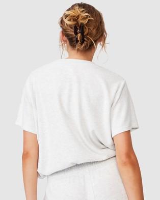 Cotton On Body Super Soft Draw Cord T Shirt Sleepwear Grey Marle T-Shirt