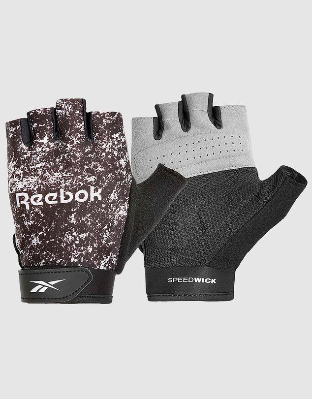 Women Womens Fitness Gloves - Black & White/Small