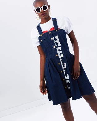 HOH X LEE – Hello Denim Dungaree Dress – Dresses (Dark Shade 4YL)