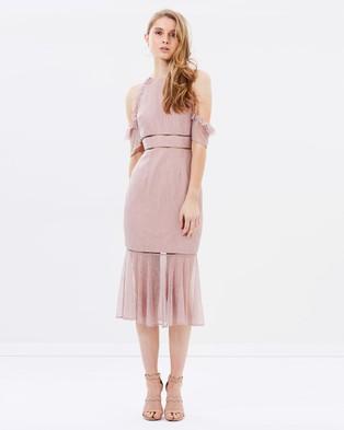 Keepsake the Label – Slide Lace Dress Rose Smoke