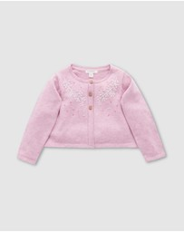 Purebaby - Berry Flower Cardigan - Kids