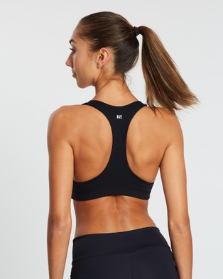 AVE Activewoman Classic Racer Back Sports Bra - Crop Tops (Black)