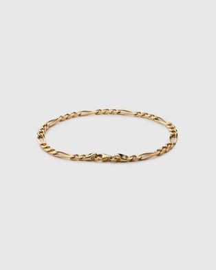 Miansai 3mm Figaro Chain Bracelet - Jewellery (Gold Vermeil)
