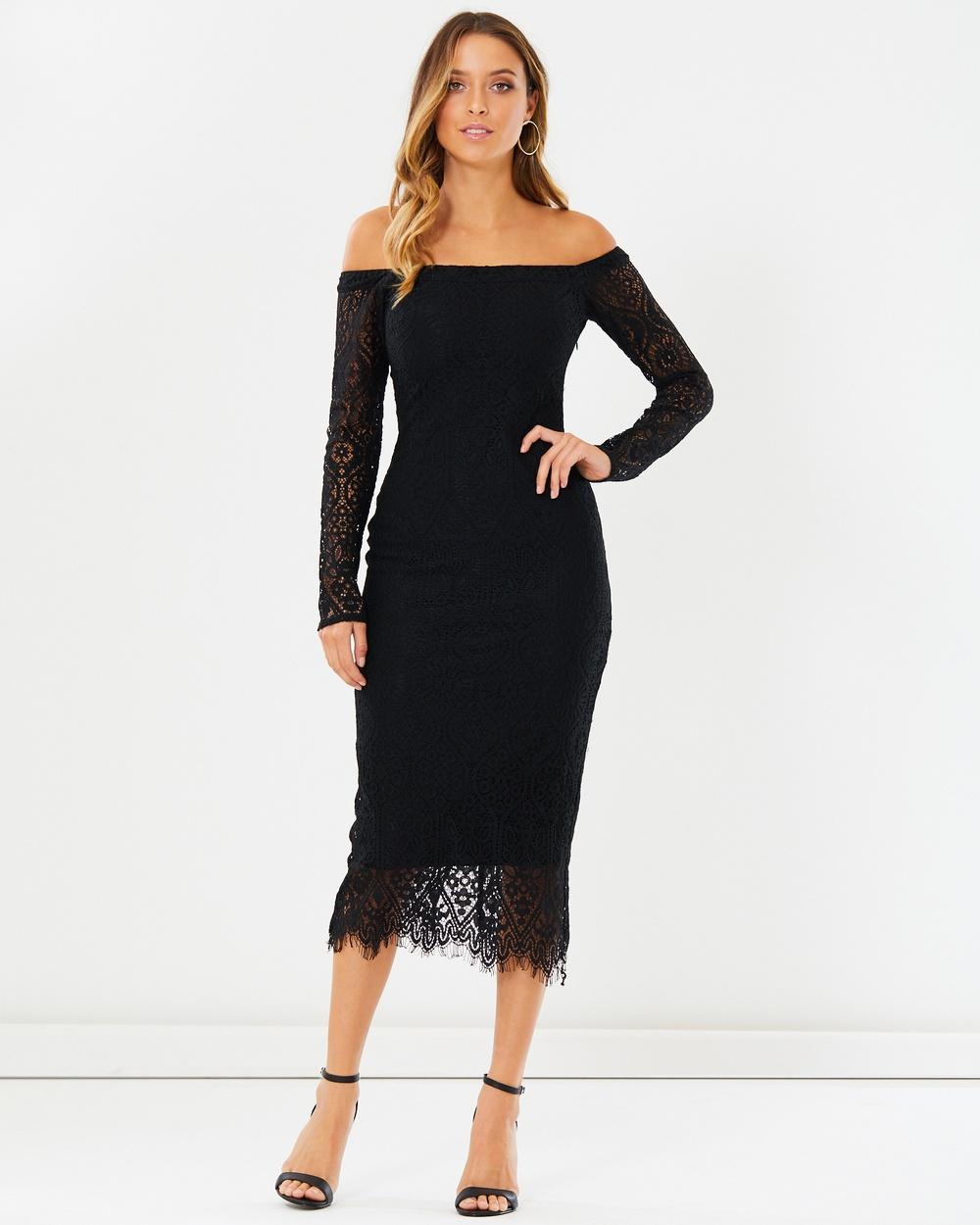 Calli Nellia Off shoulder Dress Dresses Black Lace Nellia Off-shoulder Dress