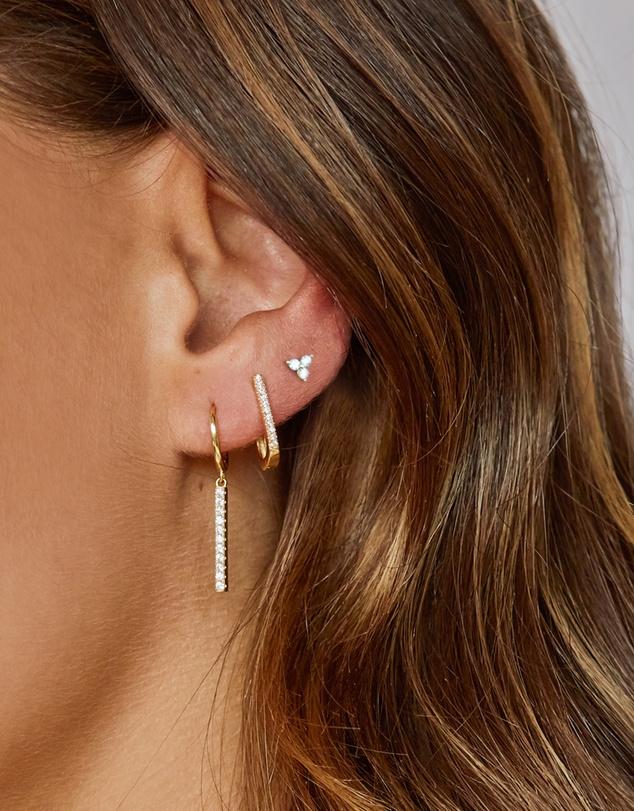Women Eloise Gold Huggie Earrings