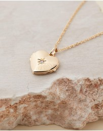Reliquia Jewellery - Open Heart Gold Necklace