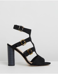 Missguided - Multi Buckle Block Heels