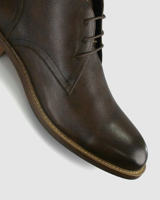 Airflex Jimmy Leather Lace Up Ankle Boots - Boots (Chocolate)