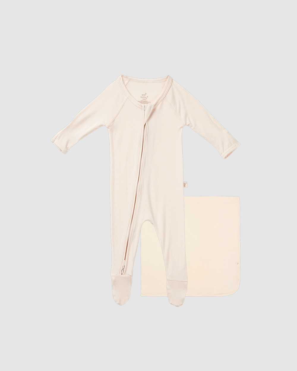Boody 2 Pack Baby Onesie & Jersey Wrap 2 items Wraps Blankets Chalk 2-Pack