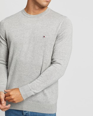 Tommy Hilfiger Core Cotton Silk Crew Neck Knit - Jumpers & Cardigans (Cloud Heather)