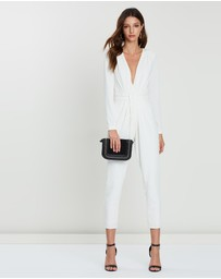 FRIEND of AUDREY - Lea Plunging V-Neck Jumpsuit