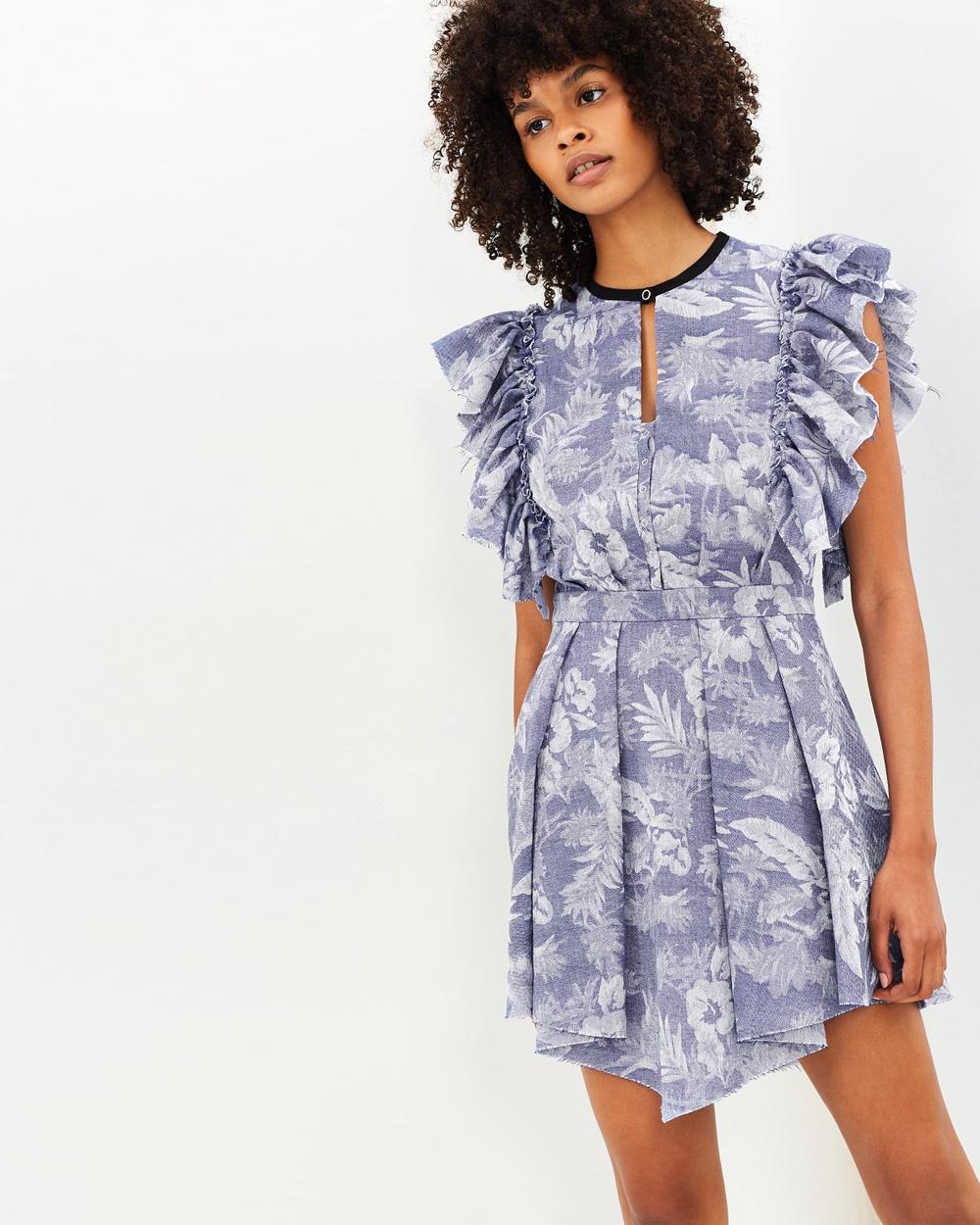PFEIFFER Lanai Dress Printed Dresses Indigo Lanai Dress