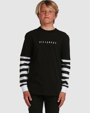Billabong - Boys Maze Long Sleeve Tee - T-Shirts & Singlets (BLACK) Boys Maze Long Sleeve Tee