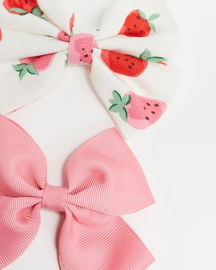 Cath Kidston 2 Pack Bows   Kids Hair Accessories (Sweet Strawberry)