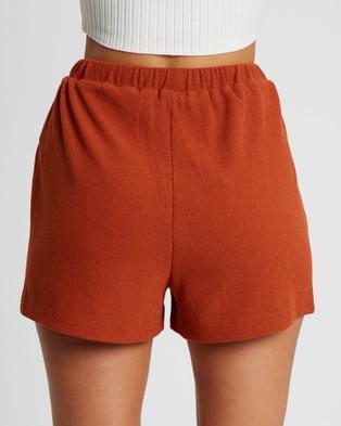Tussah Cher Shorts - High-Waisted (Tan)