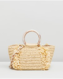 Carolina Santo Domingo - Corallina Raffia Bag