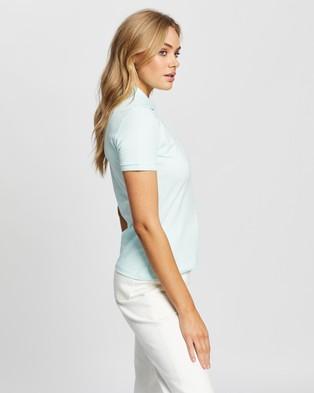 Lacoste Stretch Cotton Piqu?? Polo Shirt   Women's - Tops (Igloo)