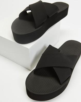 Indosole PLATFORM Cross - Sandals (Black)