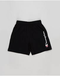 Champion - Jersey Script Shorts - Kids-Teens
