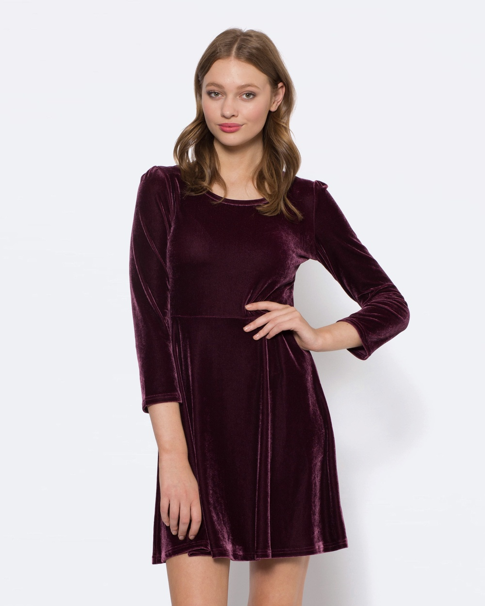Princess Highway Adora Velvet Dress Dresses Purple Adora Velvet Dress