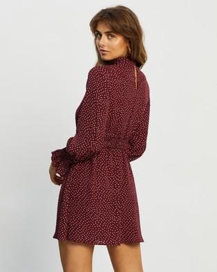 Atmos&Here Emory Mini Dress - Dresses (Burgundy Print)