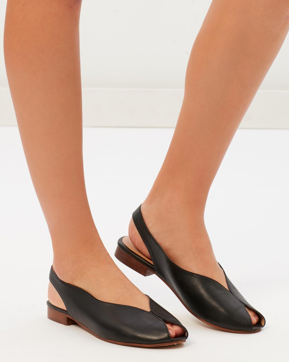 211233648b0 Oracle Slingback Flats by TOPSHOP Online