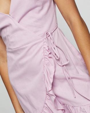 Atmos&Here Carina Linen Blend Mini Dress - Dresses (Lilac)