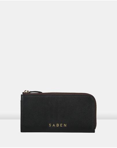 Saben Zoey Leather Bifold Wallet Black
