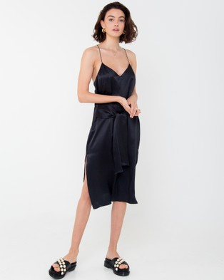 Carver – Elle Midi Dress Black