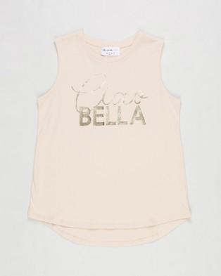 Decjuba Kids Ciao Bella Tank   Kids Teens - T-Shirts & Singlets (Soft Blush)