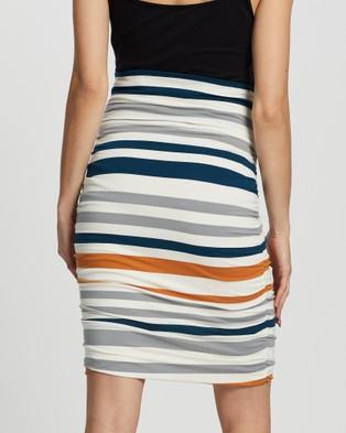 Angel Maternity Ruched Skirt Skirts White Stripes