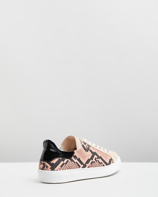 D.O.F Indiana Sneakers Pink Snake & Suede