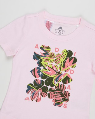 adidas Performance Tropical Sports Graphic Tee   Kids Teens - T-Shirts & Singlets (Clear Pink)