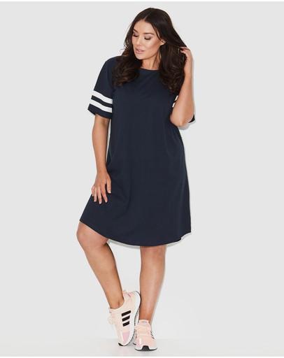 17 Sundays Sports Stripe Tee Dress Navy