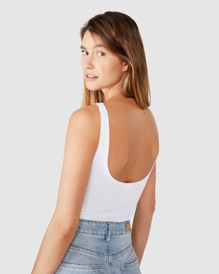 Cotton On The Everyday Scoop Bodysuit - Tops (White)