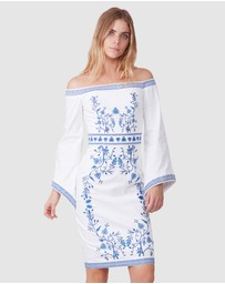 TORANNCE - Embroidered Cotton Dress