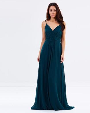 Tinaholy – Seductress In Lace Dress – Bridesmaid Dresses (Dark Green)