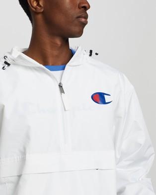 Champion Packable Stadium Jacket - Coats & Jackets (White)