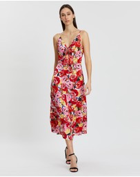 Rebecca Vallance - Blume Tie Midi Dress