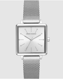 Armani Exchange - Silver-Tone Women's Analogue Watch